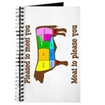 Meat to Please You Spiral Bound Blank Book