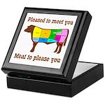 Meat to Please You Beef Jerky Storage Keepsake Box