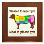 Meat to Please You Framed Tile Kitchen Art
