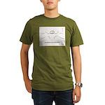 two warriors Organic Men's T-Shirt (dark)