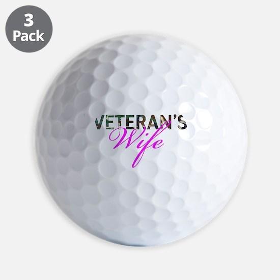 BDU Army Vet Wife Golf Ball