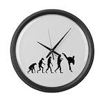 Evolution of Tae Kwan Do Large Wall Clock