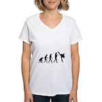 Evolution of Tae Kwan Do Women's V-Neck T-Shirt