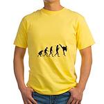 Evolution of Tae Kwan Do Yellow T-Shirt