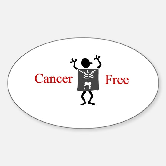 Cancer Free Oval Decal