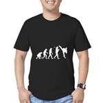 Evolution of Tae Kwan Do Men's Fitted T-Shirt (dar