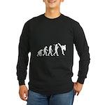 Evolution of Tae Kwan Do Long Sleeve Dark T-Shirt