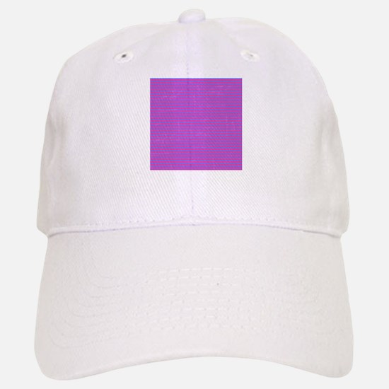 Purple Horizontal Stripes Baseball Baseball Cap