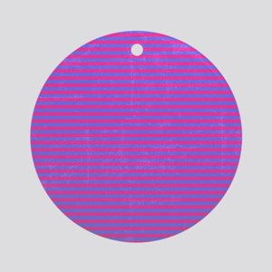 Purple Horizontal Stripes Ornament (Round)