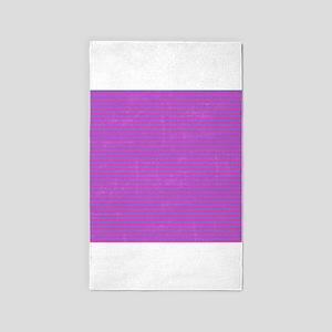 Purple Horizontal Stripes 3'x5' Area Rug