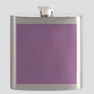 Purple Horizontal Stripes Flask