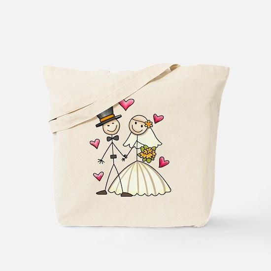 Bride and Groom Tote Bag