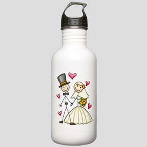 Bride and Groom Stainless Water Bottle 1.0L