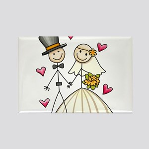 Bride and Groom Rectangle Magnet