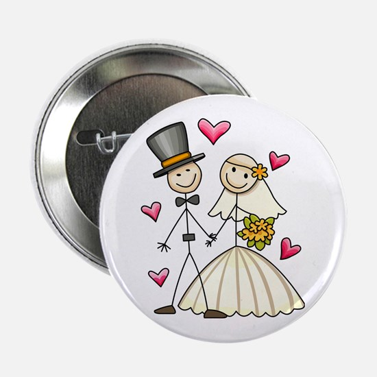 """Bride and Groom 2.25"""" Button"""