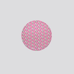 Baby Carriage Pattern. Pink Mini Button