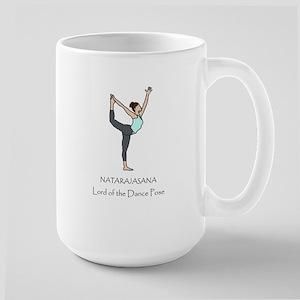 Lord of the Dance Yoga Pose Large Mug