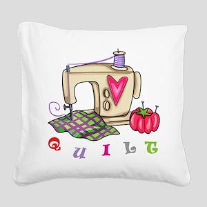 Quilt Square Canvas Pillow