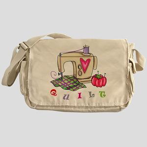 Quilt Messenger Bag
