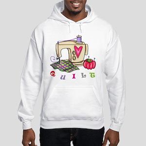 Quilt Hooded Sweatshirt