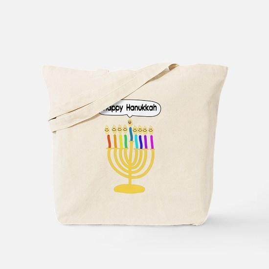 Happy Hanukkah Menorah Tote Bag
