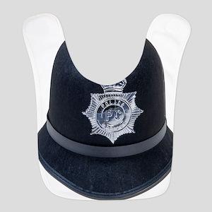 Police Bobby Hat Polyester Baby Bib