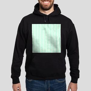 Mint Green Zigzag Pattern. Hoodie (dark)