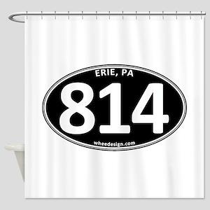 Black Erie, PA 814 Shower Curtain