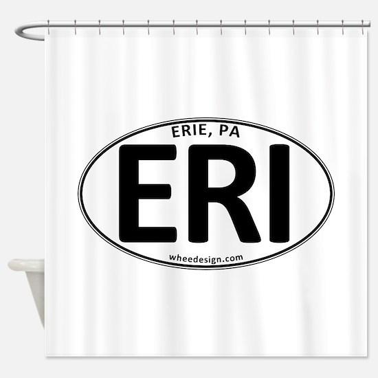Oval ERI Shower Curtain