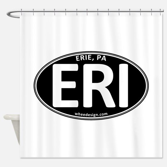 Black Oval ERI Shower Curtain
