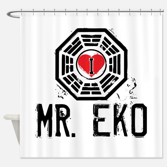 I Heart Mr. Eko - LOST Shower Curtain