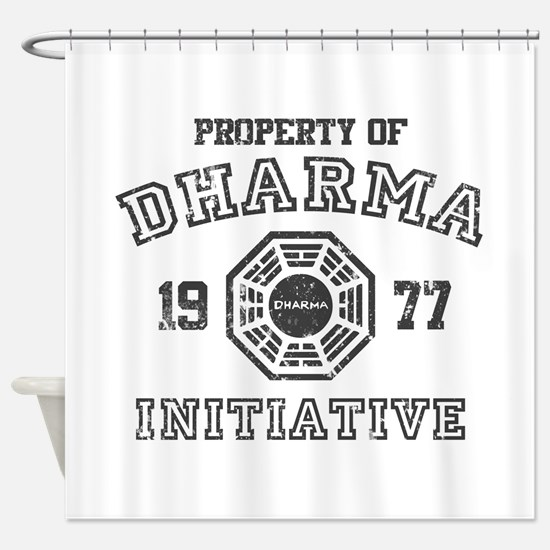 Property of Dharma Distresses Shower Curtain