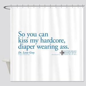 hardcore Diaper - Grey's Anat Shower Curtain