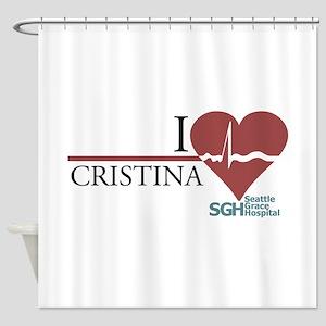I Heart Cristina Shower Curtain