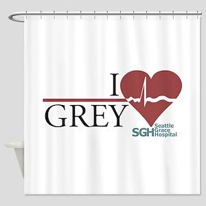 I Heart Grey - Grey's Anatomy Shower Curtain