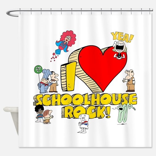 I Heart Schoolhouse Rock! Shower Curtain