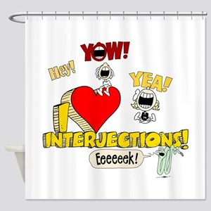 I Heart Interjections Shower Curtain