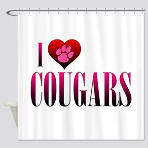 I Heart Cougars Shower Curtain
