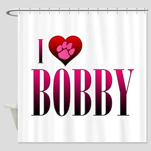 I Heart Bobby Shower Curtain
