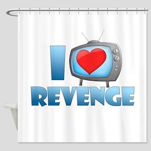 I Heart Revenge Shower Curtain
