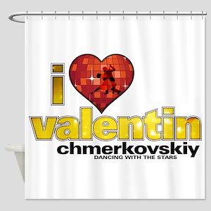 I Heart Valentin Chmerkovskiy Shower Curtain