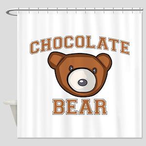 Chocolate Bear Shower Curtain