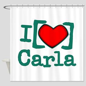 I Heart Carla Shower Curtain
