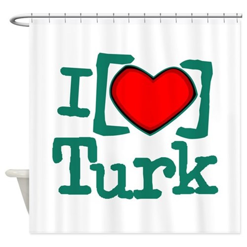 I Heart Turk Shower Curtain