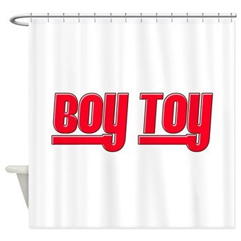 Boy Toy - Red Shower Curtain