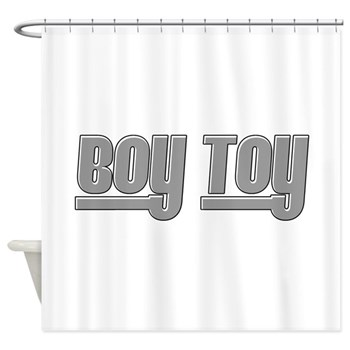 Boy Toy - Gray Shower Curtain