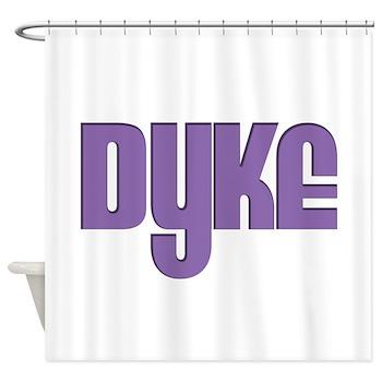 Purple Dyke Shower Curtain