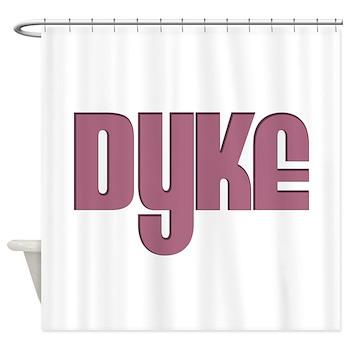 Pink Dyke Shower Curtain