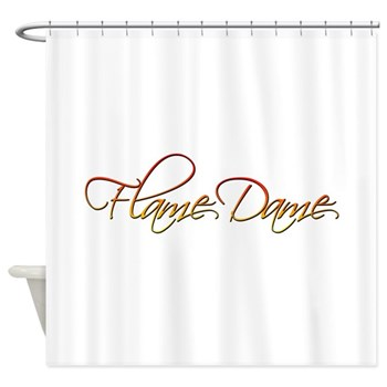 Flame Dame Shower Curtain