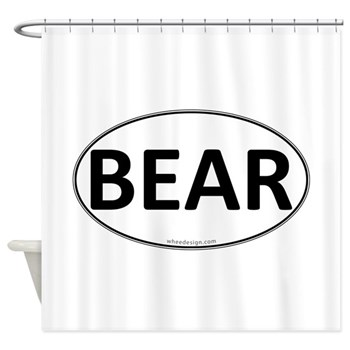 BEAR Euro Oval Shower Curtain
